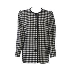 Valentino Black/White Check Jacket