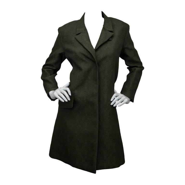 Yves Saint Laurent Loden Green Coat