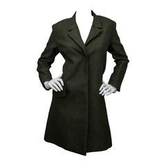 Yves Saint Laurent Loden Green Coat