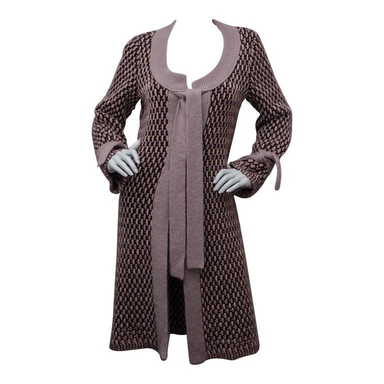 Missoni Pink Knit Sweater Coat 1