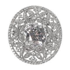 Amazing Large Faux Diamond Edwardian Style Dinner Ring