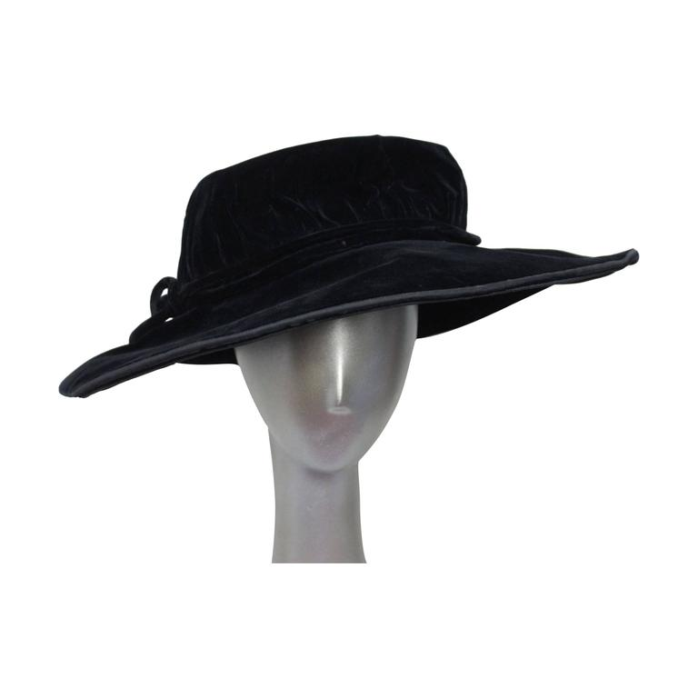 Edwardian Velvet Hat H.C.F. Koch and Company 1