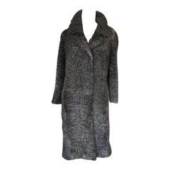 Vintage Persian Lamb Astrakhan Fur Coat