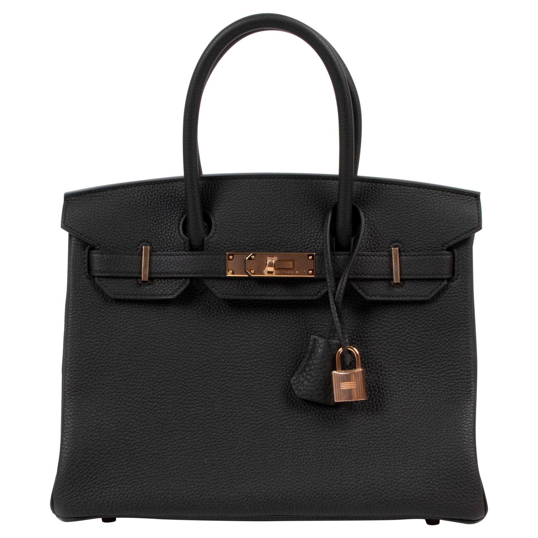 *RARE*Never Used Hermès Birkin 30 Black Togo RHW