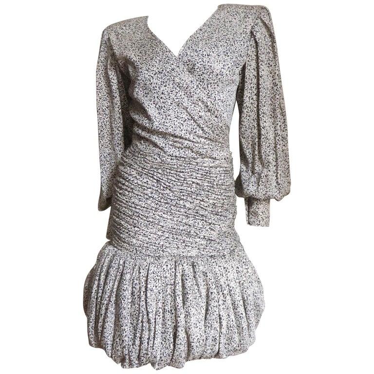 Emanuel Ungaro 1980s Silk Dress