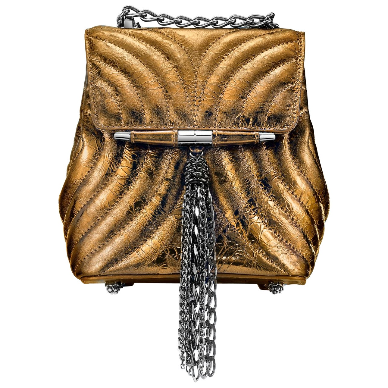 TYLER ELLIS Tiffany Backpack Petite in Bronze Leather with Gunmetal Hardware