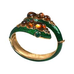 Trifari Jeweled Snake Bangle