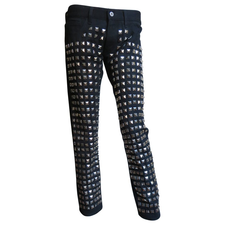 Comme des Garcons Studded Black Pants For Sale