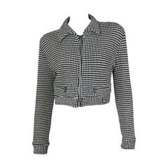 Gianni Versace Jeans Couture Vintage 90's Black & White Checkered Vest Jacket