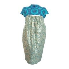 2011 Burberry Prorsum Damask and stud bubble dress