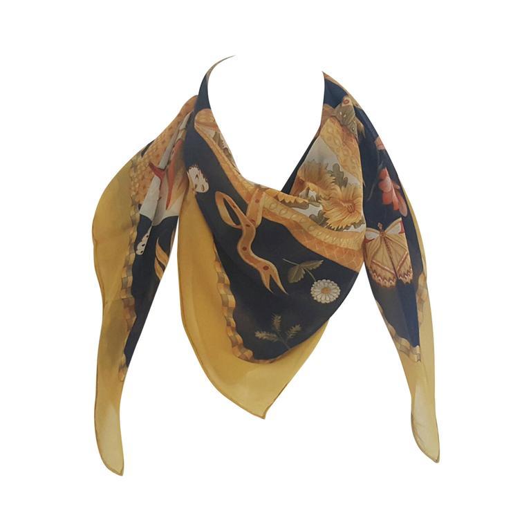 1980s Salvatore Ferragamo multicolour foulard 1