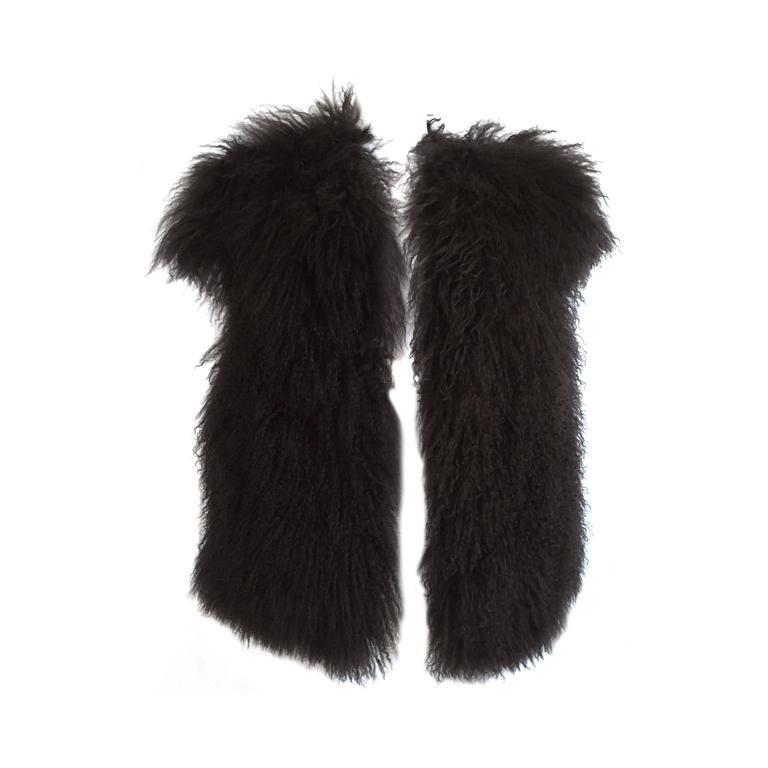 Sonia Rykiel Mongolian Fur Vest Size 6 / 8.  1