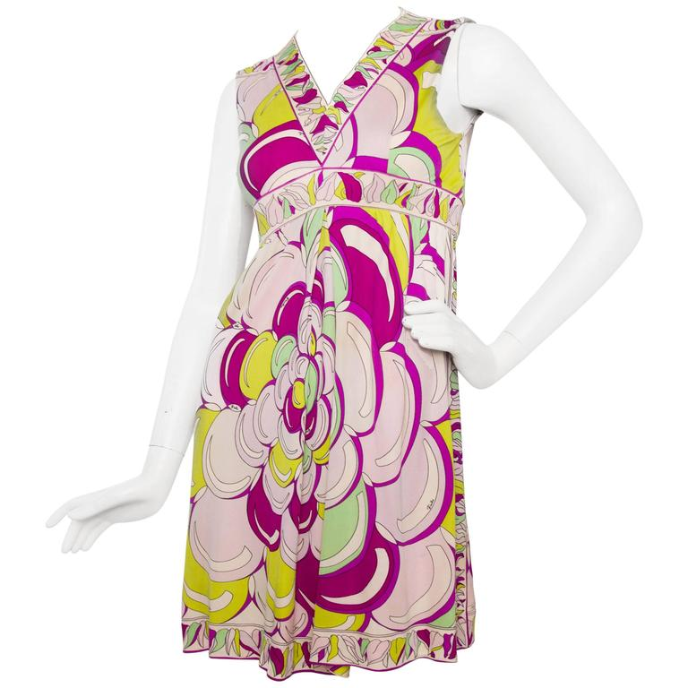 1960 Emilio Pucci Silk Jersey Dress