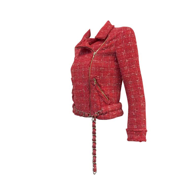Chanel Tweed Biker Jacket