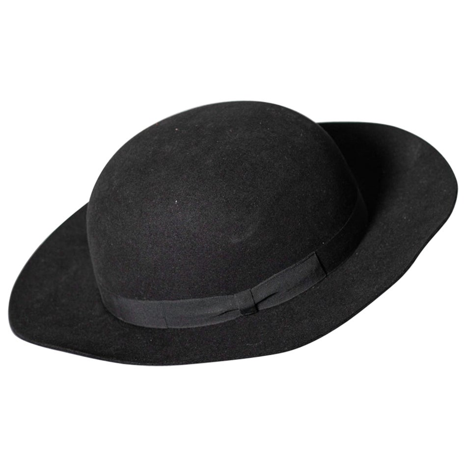 Black Vintage Italian Women's Hat by Barbisio , 1950s