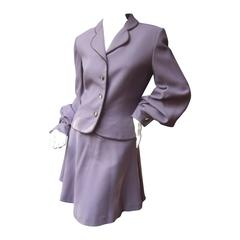 Givenchy Couture Lavender Wool Skirt Suit c 1990