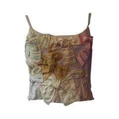 """Moschino C and C Cotton """"Bows"""" Bustier (40 ITL)"""