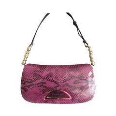 Christian Dior purple python leather bag