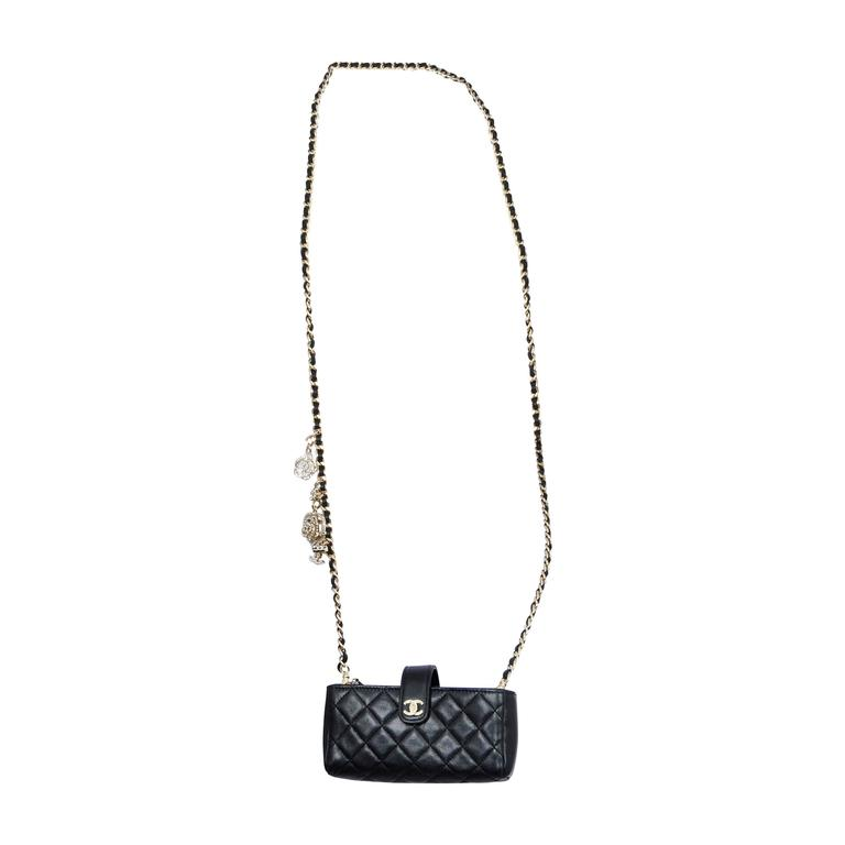 chanel cell phone charm purse at 1stdibs