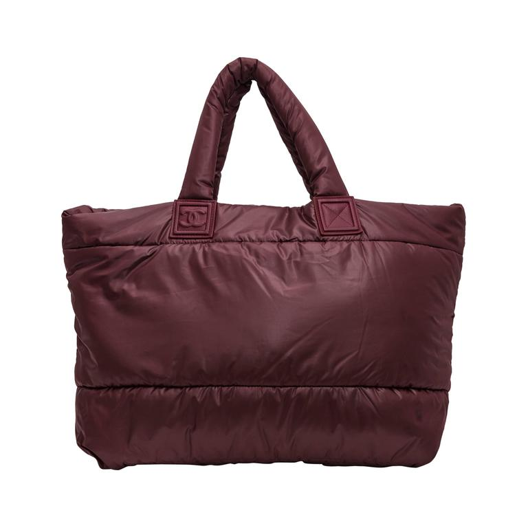bd7a46e7b45e Chanel  Coco Cocoon  Burgundy Weekender Bag at 1stdibs