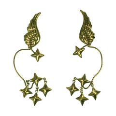 Hubert Harmon Winged Star Earrings