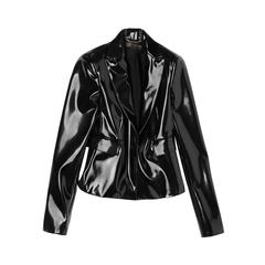 New VERSACE Black Japanese Vinyl Jacket