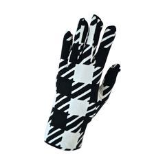 unworn 1991 AZZEDINE ALAIA dark navy & white 'Tati' checked gloves