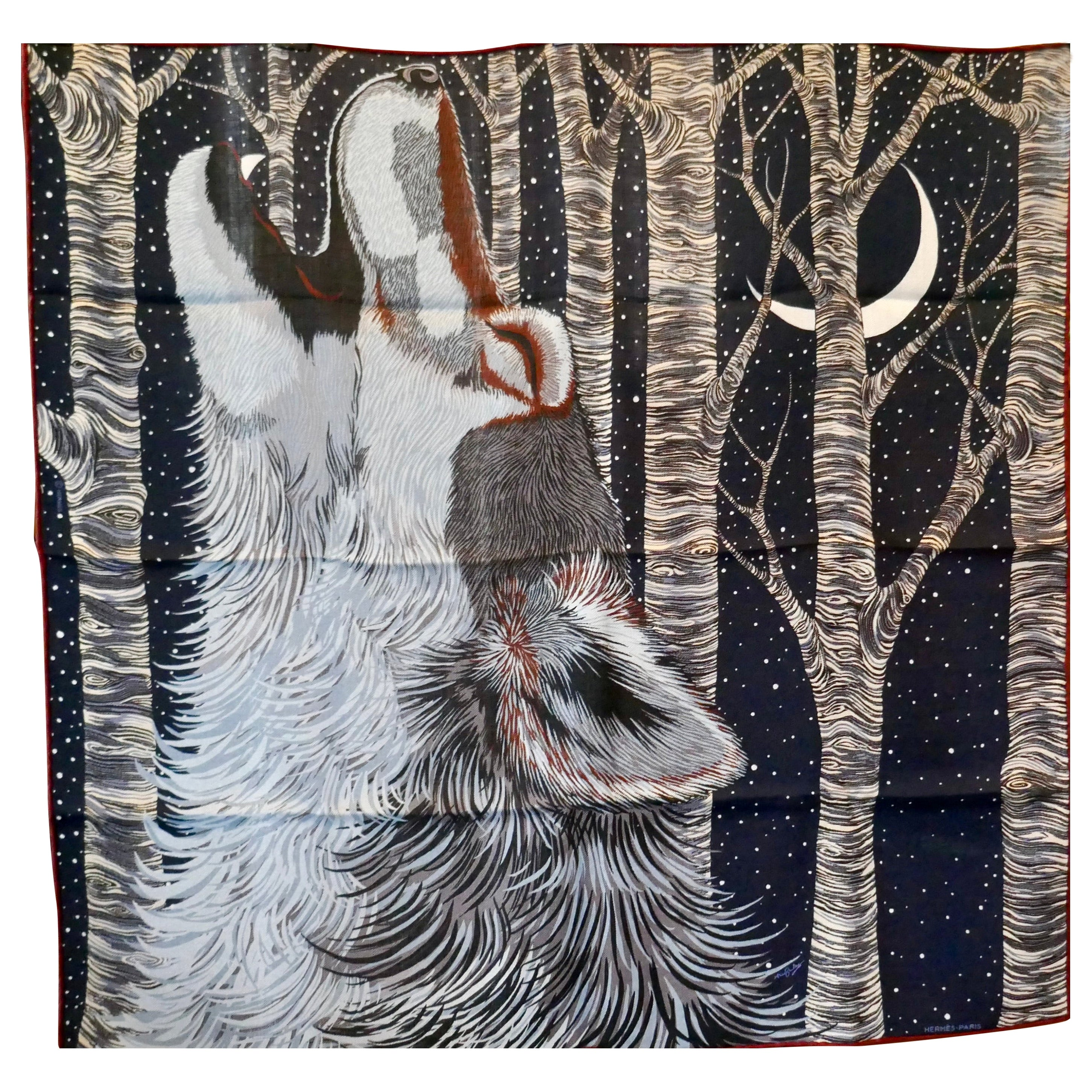 "Hermes Very Special Issue Cashmere and Silk Scarf ""AW00000"" by Alice Shirley"