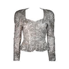 LACLEDES Pink Silk Embellished Jacket Size Medium Large