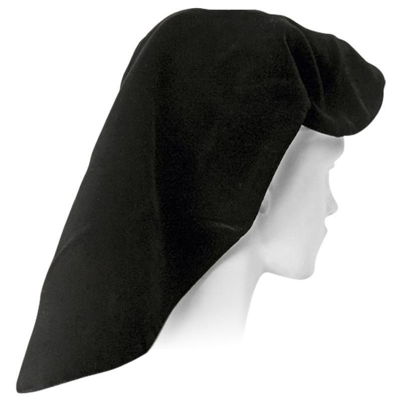 Adrian Black Silk Velvet Snood Hat   Excellent Condition!