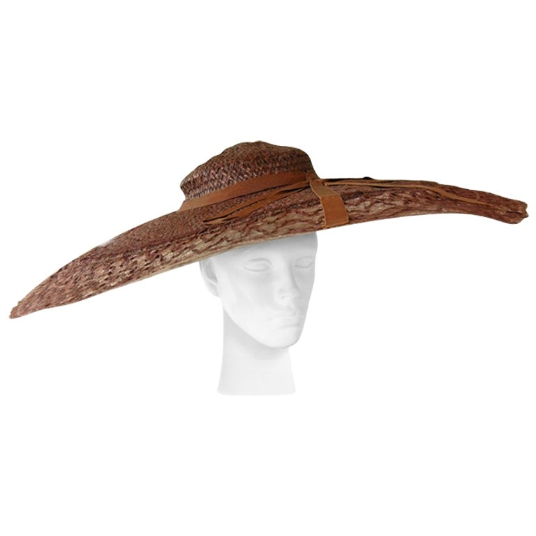 Adrian Romantic & Dramatic Custom Couture Pinwheel Hat   Rare