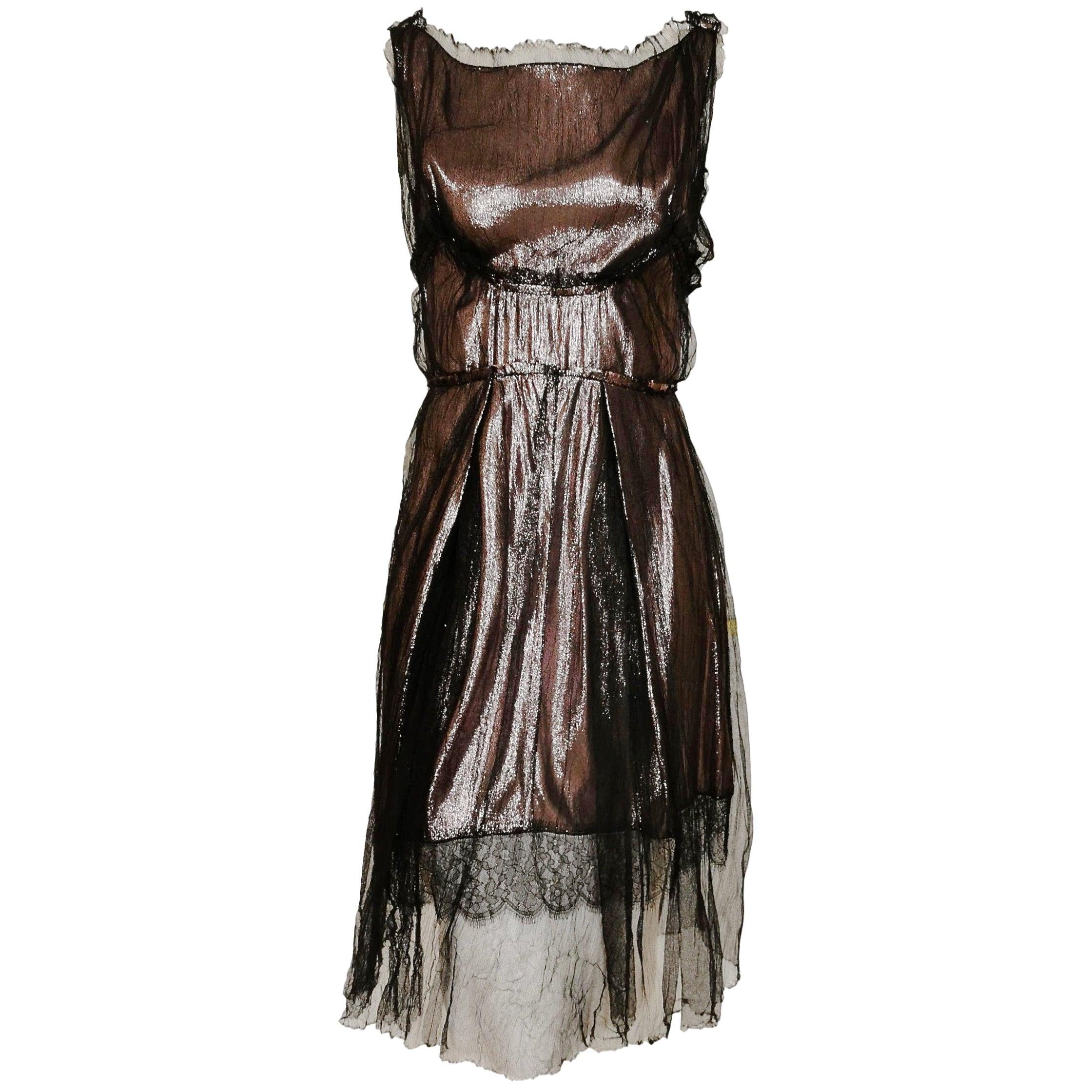 Nina Ricci Silk 1920's Style Flapper Dress