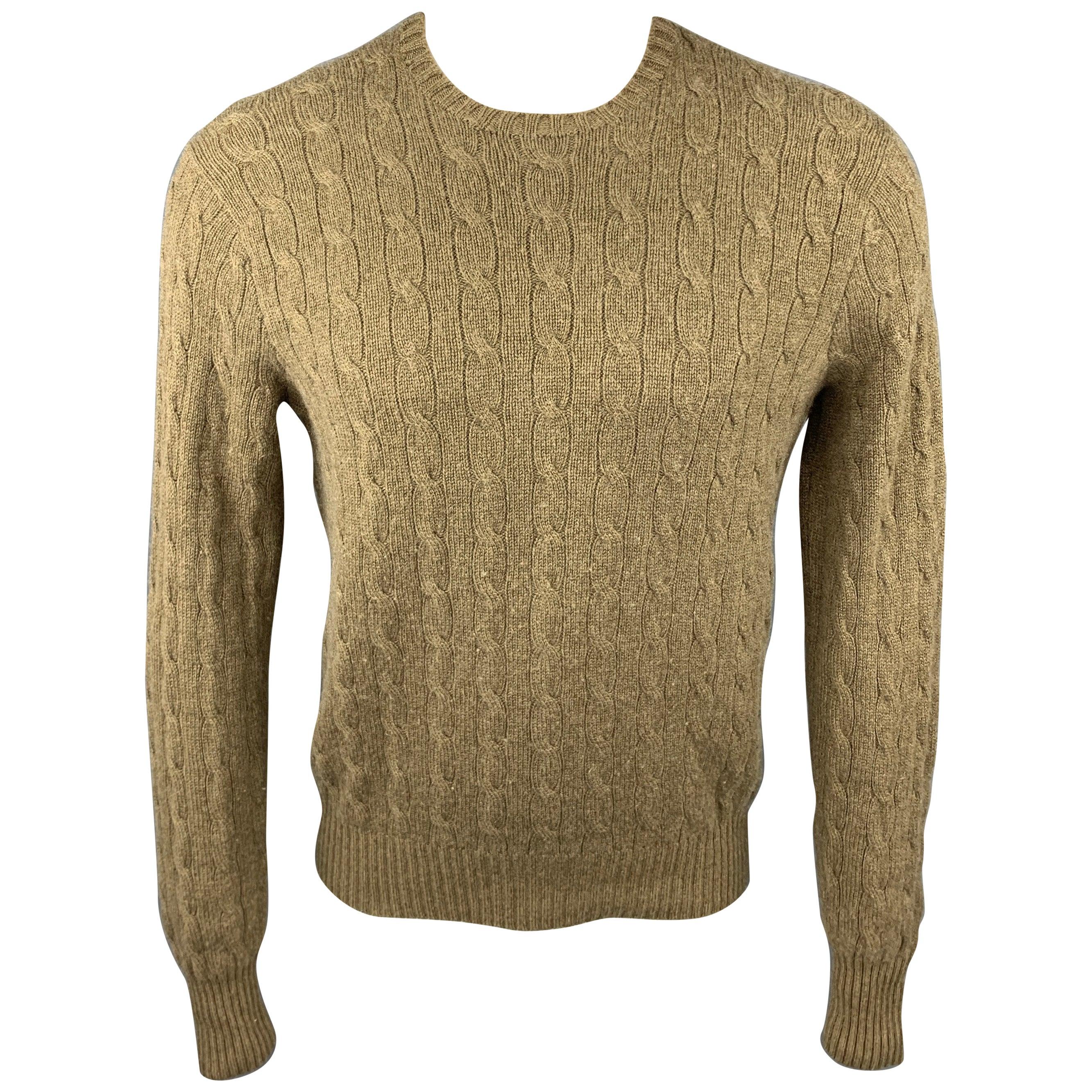 Ralph Lauren Black Label Cable-Knit Boat-Neck Sweater, Ecru
