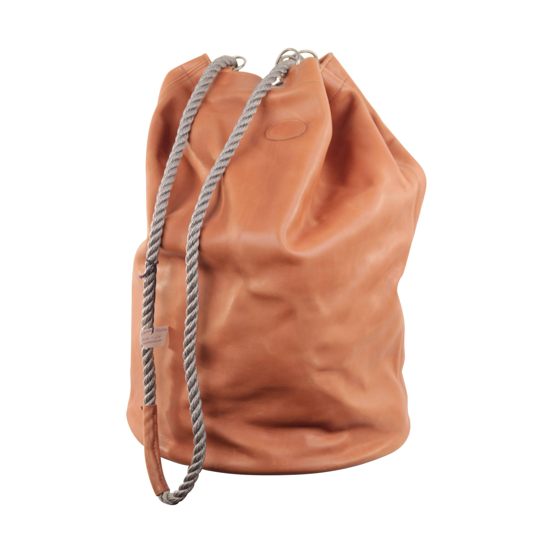 33f25019cab8 GRANATA SELLERIA Tan Leather OVERSIZED SAILOR BAG Duffel Weekender TRAVEL  at 1stdibs