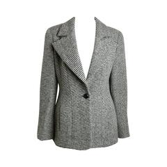 Chanel Classic Wood Black and White Tweed Blazer