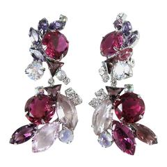"""""""One-of-a-Kind"""" Robert Sorrell Red Crystal Dangling Earrings"""