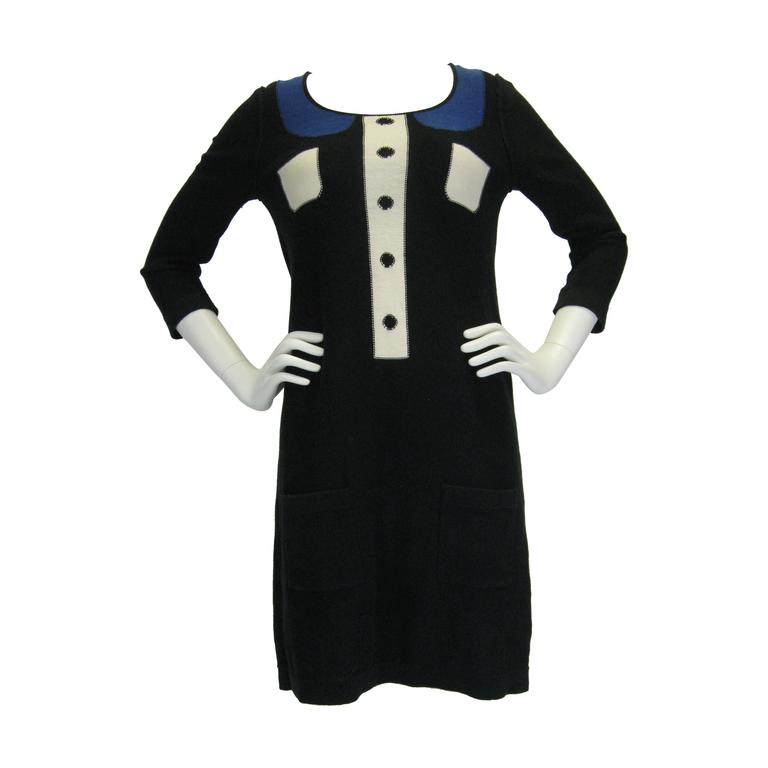 Sonia by Sonia Rykiel Trompe L'oeil Knit Dress