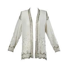 Unworn Fabrice Vintage Sequin + Beaded Flapper Kimono Jacket or Duster