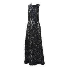 1960s Mignon Black Sequin Dress