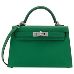 2020  Hermès Cactus & Blue Atol Leather Kelly 20cm II