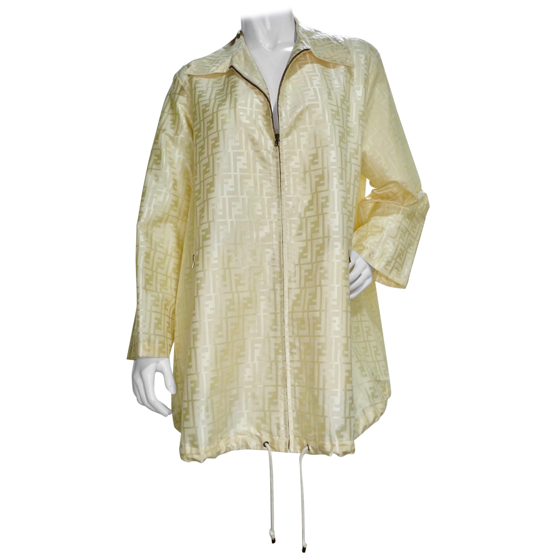 Fendi 1990s Monogram Rain Jacket
