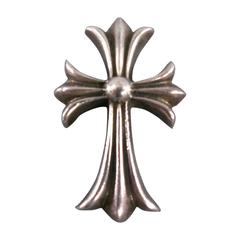 CHROME HEARTS Sterling Silver Engraved Cross Pendant
