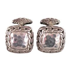 JOHN HARDY Sterling Silver .925 Square Cuff Links