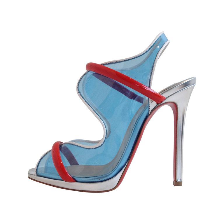 Christian Louboutin Translucent Blue Heels Size 36.5 (6)