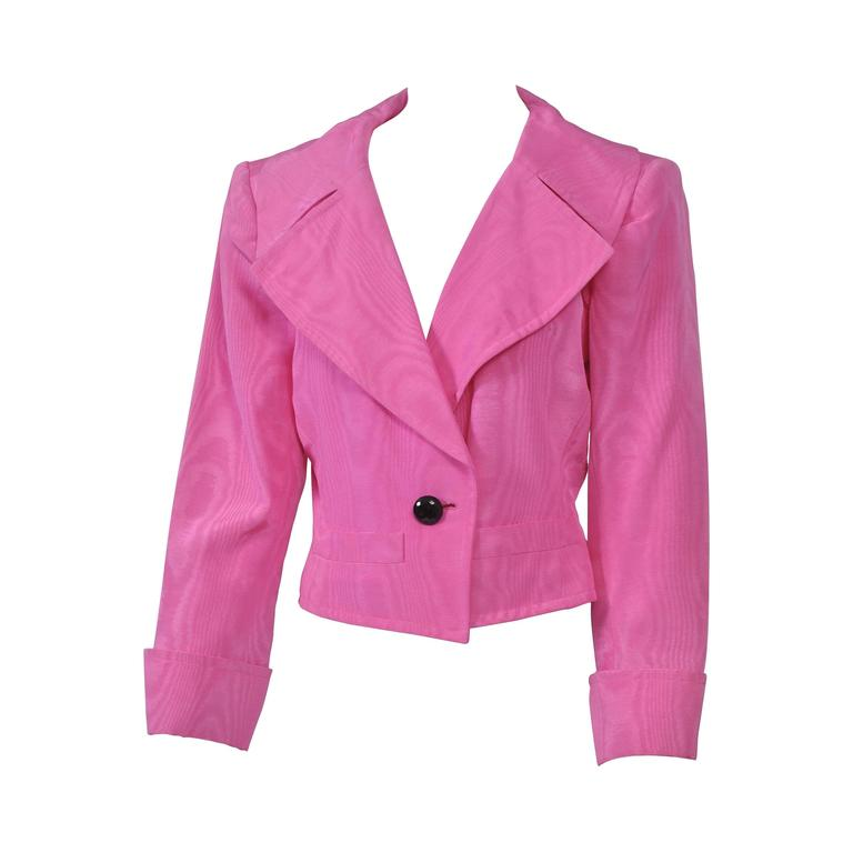 YSL Pink Moire Jacket