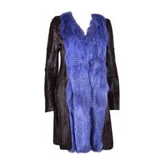 New Versace Fox Alpaca Kidskin Coat