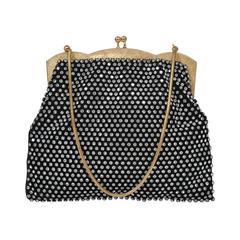 Rhinestone-studded Evening Bag