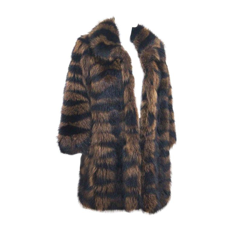 Exceptional Yves Saint Laurent Beaver Fur Coat c. 1980s 1