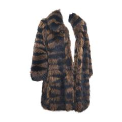 Exceptional Yves Saint Laurent Beaver Fur Coat c. 1980s