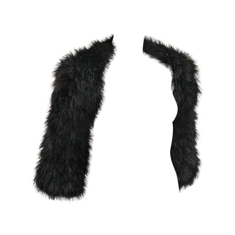 Alexander McQueen Black Marabou Fur Bolero Jacket c. 2005